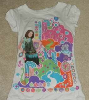 GIRLS WIZARDS OF WAVERLY PLACE T SHIRT SIZE 7 8 SELENA GOMEZ ALEX