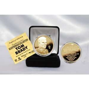 Tom Brady Nfl Quarterback Coin Collection 24Kt Gold Plated