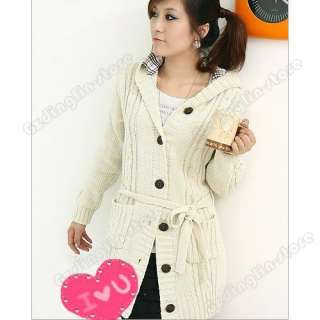New Womens Long Sleeve Hoodie Coat Cardigans trench Sweater Warm