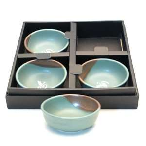 4 piece Green Bowl Set