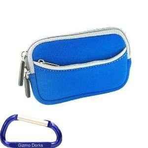 Touring Series Neoprene Dual Pocket Zipper Case (Blue