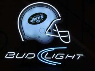 Light New York Jets NFL Football Helmet Neon Light Beer Bar Sign NEW
