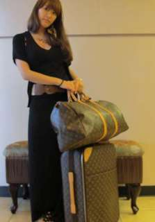 LOUIS VUITTON Monogram Pegase 55 Rolling Suitcase Luggage Bag