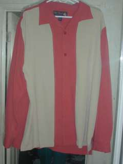 New NAT NAST Rust & Wheat Color Block Long Sleeve ROCKABILLY Hipster
