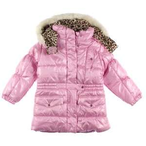 FOG GIRL FAUX FUR Lined Snow WINTER Coat Removeable Hood LT PINK 18MO