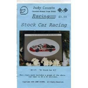 Cross Stitch 1991 Stock Car Racing #17 Pattern Arts, Crafts & Sewing