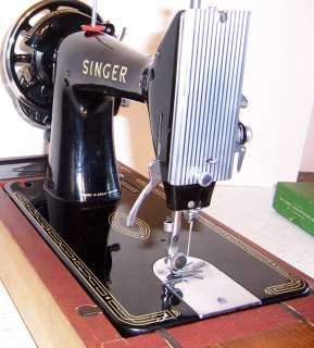 model 99 Hand Crank Sewing Machine with Flip Down Bed Extension