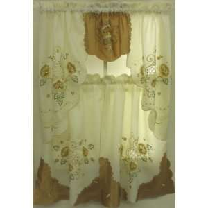 32 TIER CURTAIN AND SWAG SET WITH JEWEL ACCENTS: Home & Kitchen