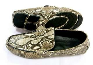 Cool GENUINE PYTHON SNAKE SKIN LEATHER CASUAL LOAFERS MENS SHOES