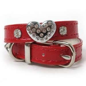 Heart Charm Dog Collar 14 PINK