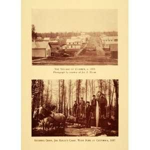 1943 Print Glidden Village & Joe Kellys Camp Chippewa   Original
