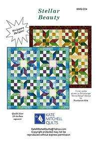 Stellar Beauty Quilt Pattern 38 x 38 Jelly Roll Pattern