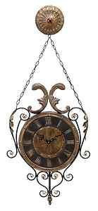 Old World French Design Metal Wall Clock