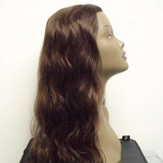 100% INDIAN REMY HUMAN HAIR LACE FRONT WIG #1B WANNABE