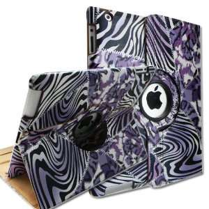 Degrees Rotating Stand Smart Cover PU Leather Case for Apple iPad 2