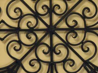 tuscan arch wrought iron wall grille grill french italian. Black Bedroom Furniture Sets. Home Design Ideas
