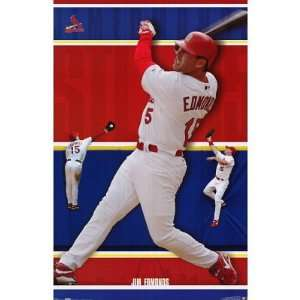 ST. LOUIS Cardinals MLB JIM EDMONDS Poster Baseball: Home