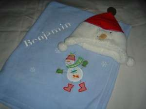 Pottery Barn kids baby hat and blanket set new benjamin