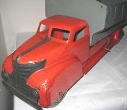 Big Antique Pressed Steel Toy Dump Truck Marx 1930s 1940s