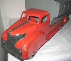 Big Antique Pressed Steel Toy Dump Truck Marx 1930s 1940s