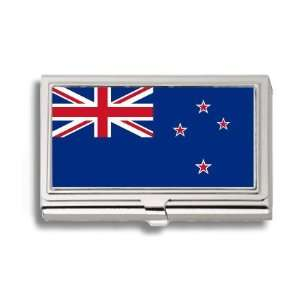 New Zealand Zealander Kiwi Flag Business Card Holder Metal