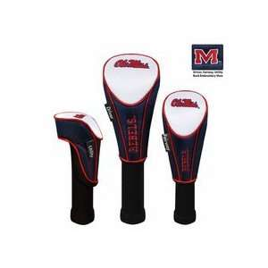 Mississippi (Ole Miss) Rebels Nylon Golf Club Headcover (Set of 3
