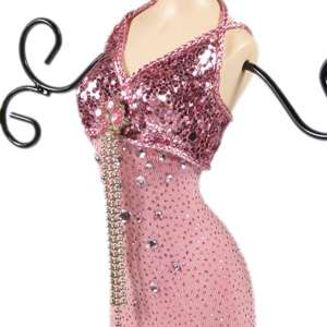 Pink doll mannequin jewelry stand tree bridesmaid dress