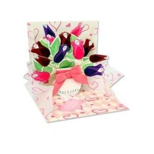 Valentines Day Pop Up Card   Bouquet of Roses Everything