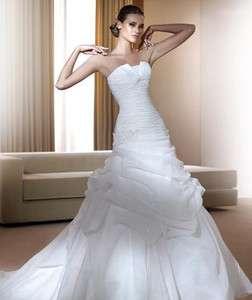 All Sizes Charm White Sleeveless Ruffle Bride Gowns Wedding Dresses