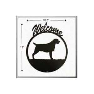 Wirehaired Pointing Griffon Welcome Sign: Patio, Lawn & Garden