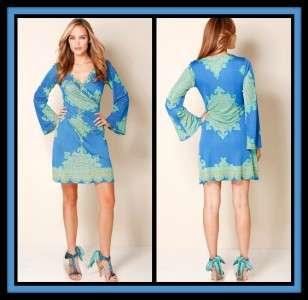 Hale Bob Silk Jersey Dress L 10 12 UK 14 16 NWT $356 Moroccan Mirage