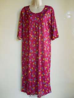 New Plus House Dress Duster Lounge Sleepwear Gown Colors Floral
