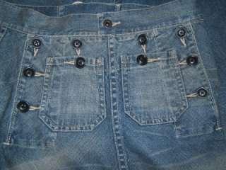 NEW RALPH LAUREN Jean SEXY RARE Skirt 4 Womens Designer Long Blue Jean