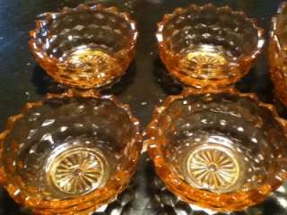 Pink Diamond Windsor Depression Glass Bowl Set 5 Piece