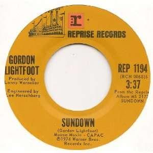 Sundown / Too Late For Prayin (1974 45rpm) Gordon Lightfoot Music
