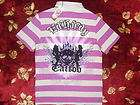 Ed Hardy Mens Skull Tattoo Polo Shirt Size Large L Auth