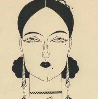 JULIUS KLINGER Vienna Original BW Art Deco FREY PRINT 1923