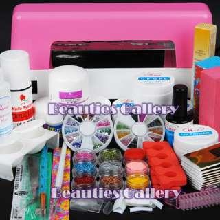 lamp Acrylic Powder Nail Liquid Kit gel tools polish dust 307