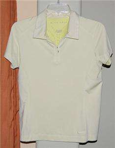 NIKE FIT DRY YELLOW GREEN GOLF POLO SHIRT WOMENS SMALL