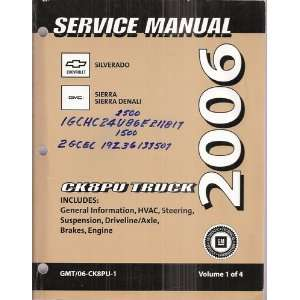 Service Manual for 2006 Chevrolet Silverado & GMC Sierra
