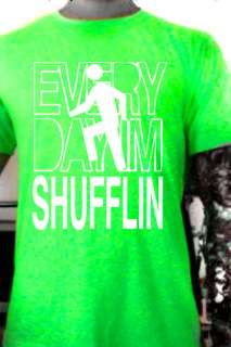 LMFAO PARTY ROCK ANTHEM STICK MAN NEON T SHIRT GLOW UV
