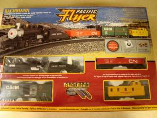 Bachmann PACIFIC FLYER Complete Ready to Run HO Scale TRAIN SET   NEW