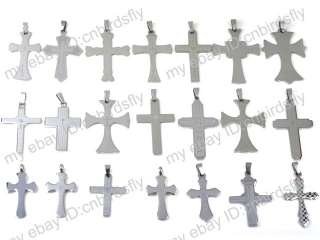 Wholesale jewelry lots Mixed 10X Stainless steel Men Lady Cross