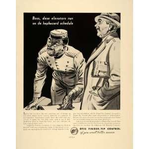 1938 Ad Otis Elevator Company Operator Black Americana