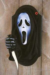 HALLOWEEN ANIMATED GHOST FACE KNIFE SCREAM MOVIE PROP