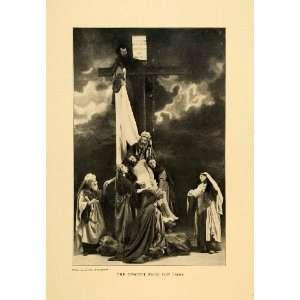 1903 Print Jesus Christ Descent Cross Oberammergau Germany Theatre
