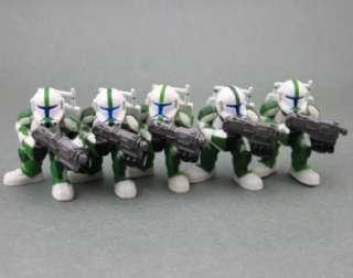 LOT 5 Pcs STAR WARS GALACTIC HEROES CLONE TROOPER FIGURE SW63