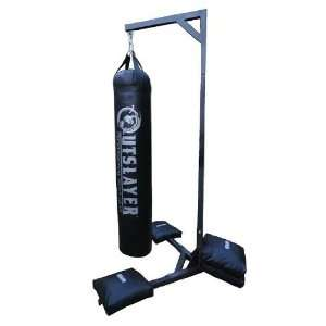 Muay Thai Heavy Bag Stand 350lbs Capacity Sports