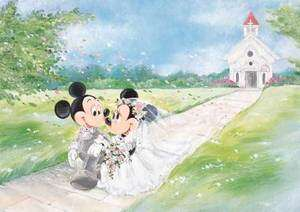 Japan Jigsaw Puzzle Tenyo Disney Mickey Wedding 108 841