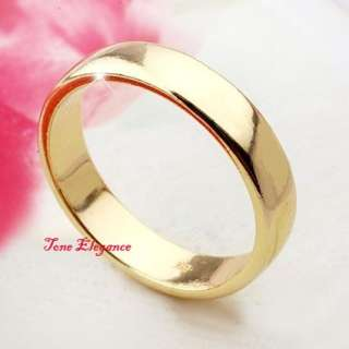 9ct yellow gold GF Engagement wedding mens womens solid plain ring
